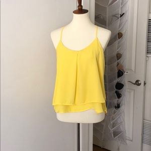Ambiance strappy summer top in yellow